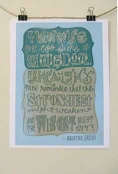 ghandi quote More