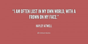 Am Lost Quotes -atwell-i-am-often-lost-in