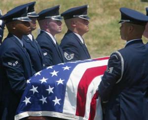 ... honor guard carries the casket of General Benjamin O. Davis Jr.,during
