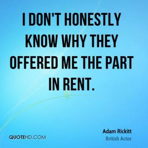Adam Rickitt Quotes