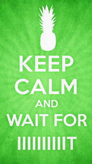 Keep Calm and Wait For IIIIIIIIIt by Antzie7