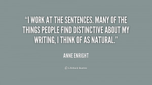 work at the sentences. Many of the things people find distinctive ...