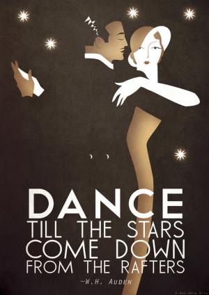 ... A3 Poster Print Dance Tango, Bauhaus, Vintage, WH Auden Romantic Quote