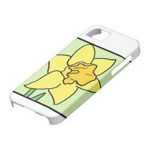 Cartoon Clip Art Daffodil Spring Garden Flower iPhone 5 Case