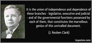 ... and dependence of these branches - legislative, executive