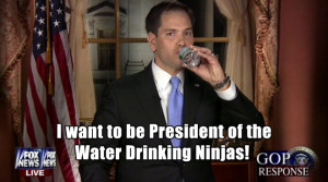 Marco Rubio Reaches For Water Awkwardly During State of the Union ...