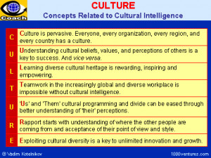 Culture and Cultural Intelligence Concepts