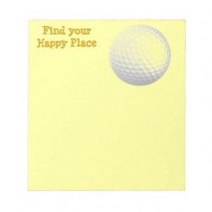Find your happy place memo note pad