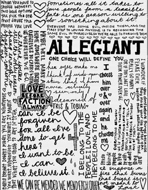 ALLEGIANT QUOTES ♥ ♥ ( #possiblespoilers .) #VeronicaRoth # ...