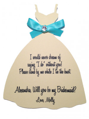 Boda - Will you be my Bridesmaid?