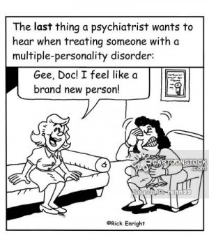 Disorder cartoons, Multiple Personality Disorder cartoon, funny ...