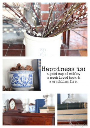 Happiness_quote_winter_mantel