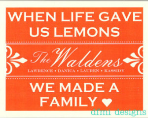 Blending families - when life gave us lemons we made a family