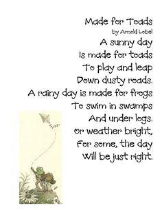 ... Across Borders: Treasures Unit 5 Week 2: The Kite (Frog and Toad) Poem