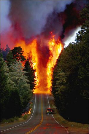 Forest Fire, Lake Arrowhead, California