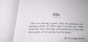 Laing #alfa #knots #psychologist #psychology #poetry #game