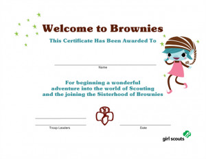 Girl Scout Brownie Printables Posted by girl scout troop