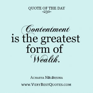 Quotes On Happiness and Contentment