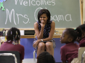First Lady Michelle Obama Fights High Childhood Obesity Rates in ...