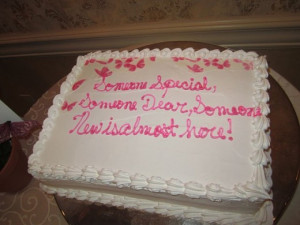 Baby Girl Shower Cake, cannoli cake