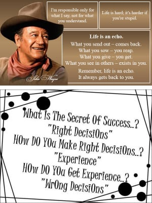 Related Pictures funny john wayne quote life is hard its harder if ...