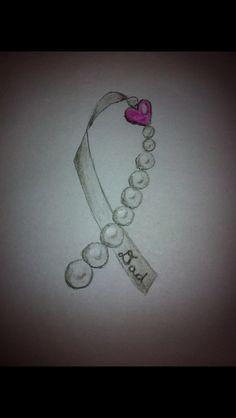 tattoo pearl lung cancer tattoos pearl ribbon tattoo a tattoo ...