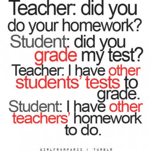 Funny Quotes About School Teachers and Students