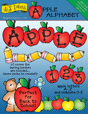 NEW 'Apple Alphabet' clip art download!!