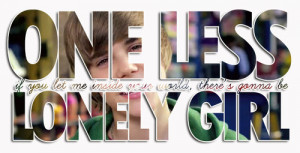 one less lonely girl - justin-bieber Photo