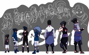 ... naruto shippuden evolution doodle anime curse mark 2454x1308 wallpaper