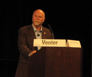 """We can make a new flu vaccine in 24 hours,"""" said Venter."""