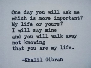 GIBRAN Love Poem Love Quote Khalil Gibran Quote Hand Typed Quote ...