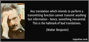 Any translation which intends to perform a transmitting function ...