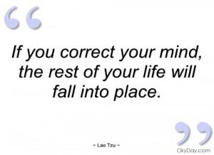 if you correct your mind lao tzu