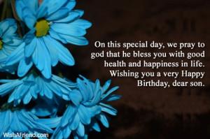 birthday wishes to a son happy birthday dear son happy birthday wishes ...