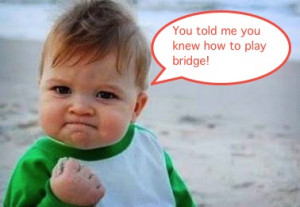 love these Baby Quotes about playing BRIDGE!