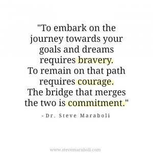 To embark on the journey towards your goals and dreams requires ...