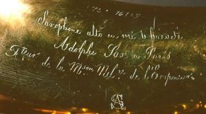 Maker's name engraved on side of bell