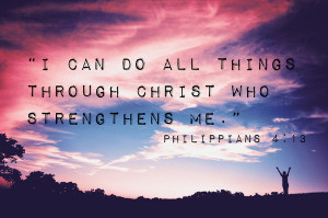 The other verse that I will live by is
