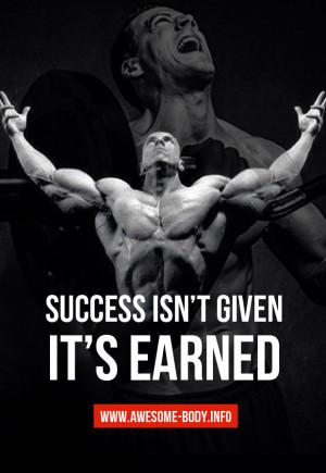 Motivation about success   bodybuilding quotes