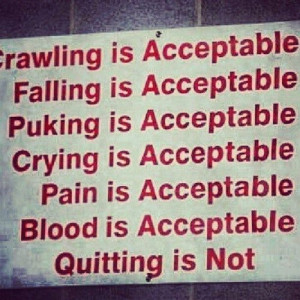 Quitting is NEVER an option ! #motivation #Quote