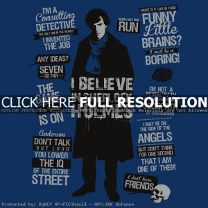 Sherlock Holmes Funny Quotes
