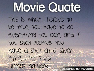 Movie Quote... Silver Lining