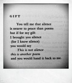 Leonard Cohen, 'Gift' (Poems 1956-1968) More