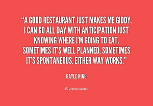 Quotes About Restaurants