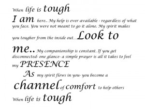 when life is tough ...God is tougher