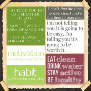 ... tags for this image include: quotes, fitness, food, Habit and health