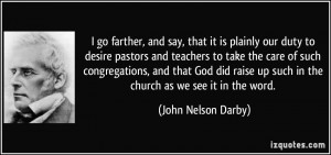 up such in the church as we see it in the word John Nelson Darby