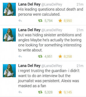 Lana Del Rey Tweets About The Guardian Interview Comments