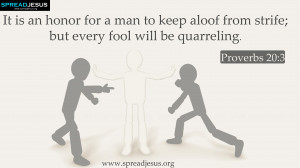 BIBLE QUOTES Proverbs 20:3 HD-WALLPAPERS
